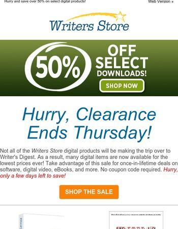 Digital Clearance Sale is Ending Soon!