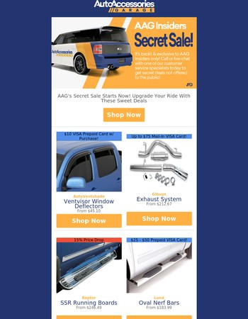 AAG's Secret Sale Starts Now! Upgrade Your Ride With These Sweet Deals