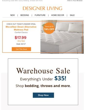 Huge Warehouse Sale starts today!
