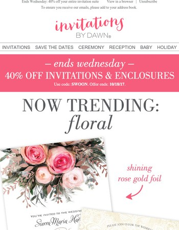 Beautiful blossoms, 40% off