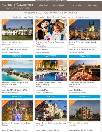 February Half Term at Disneyland Paris from £149pp | Hampshire Stay + 3-Course Dinner from £85pp | Berlin Christmas Market Break from £162pp