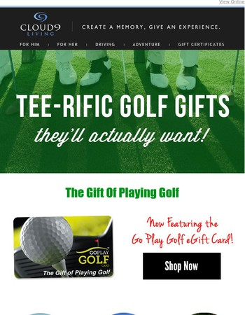 TEE-rific Golf Gifts | Access to Private Courses, Green Fees & Lessons