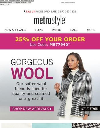 Warm, cozy wool | Save 25%