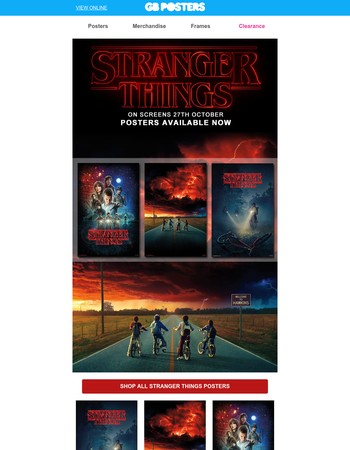 Stranger Things posters have arrived from the upside down!
