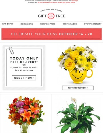Hurry – Boss's Day Is Today