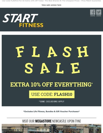 Flash Sale - Extra 10% Off Everything .....Running / Cycling / Football....