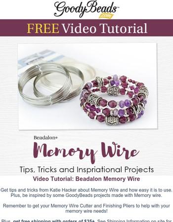 FREE Video: Beadalon Memory Wire