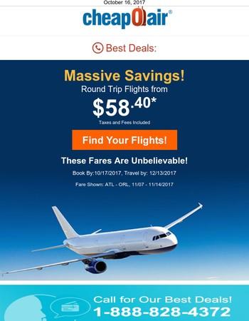 ✈ Massive Flight Sale!