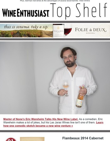Master of None's Eric Wareheim Talks His New Wine Label