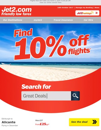 ✈ Soak up the sun for less with 10% off flights