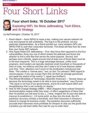 Four short links: 16 October 2017