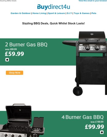 Sizzling BBQ Deals - Quick whilst stocks last