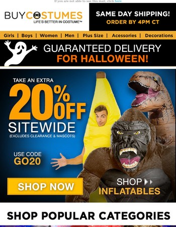 If You Got It, Haunt It! Take 20% Off Sitewide!