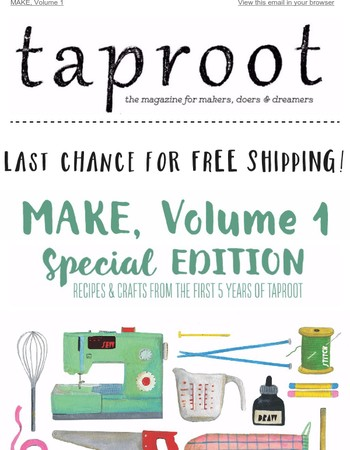 MAKE, Volume 1: Free shipping ends today!