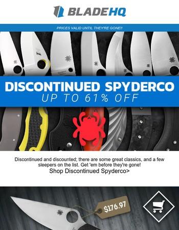 Spyderco Discontinued Sale!!