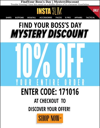 Find Your Boss's Day | Mystery Discount