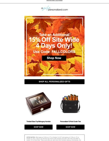15% off Site Wide - 4 Day Sale!