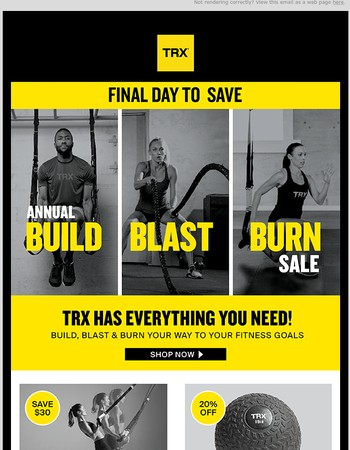 FINAL HOURS:  SAVE BIG On All Trainers and Training Tools
