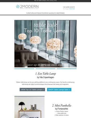 Table Talk: Top 5 Table Lamps | 5 Sales End Today