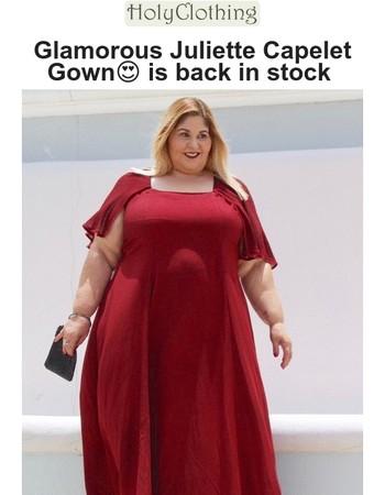 Glamorous Juliette Gown is back in stock