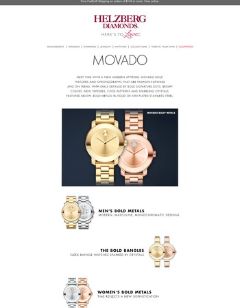 Discover Movado Bold Watches
