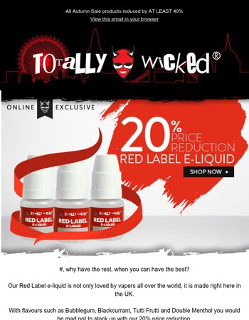 Hurry! Red Label reductions end soon!