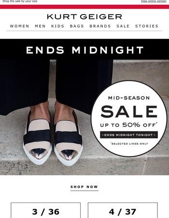 Sale Ends Midnight Tonight!