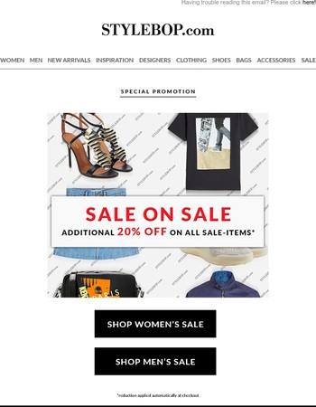 Sale On Sale: Extra 20% Off