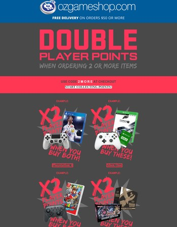 Want double Player Points?