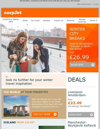 Mary, winter city breaks from £26.99