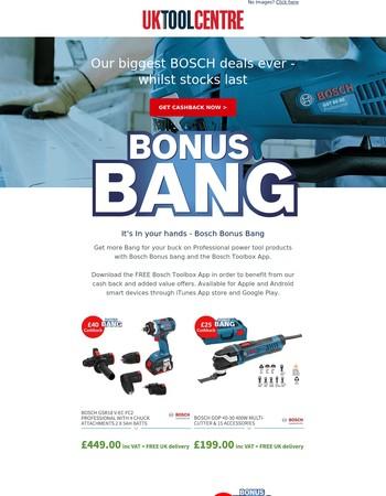 Huge Bosch Savings + Cashback
