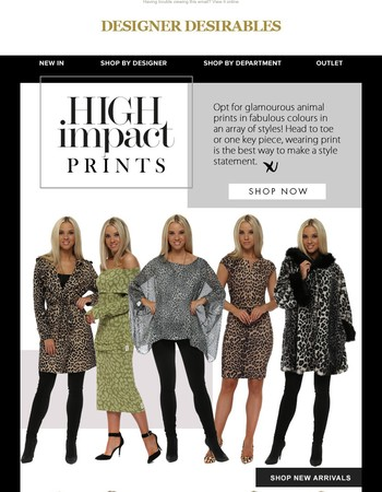 JUST IN - Walk On The Wild Side With Our New Statement Prints