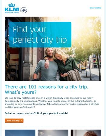 Find your European city trip