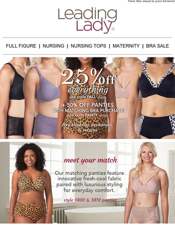 Fall in Love with Our Bras