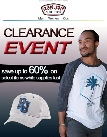 Clearance Event - Save Up To 60%