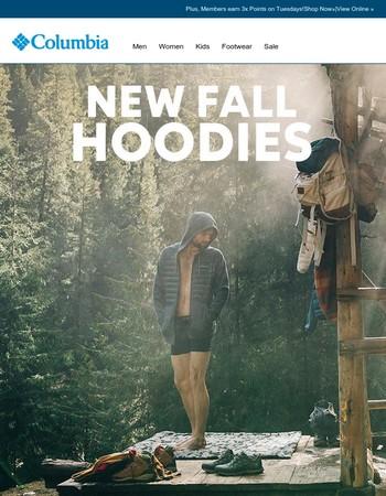 New fall hoodies to keep you warm.