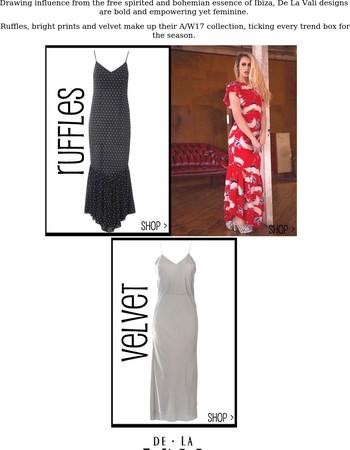Shop New Brand De La Vali, Must Have Dresses...