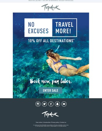 No excuses, travel more!