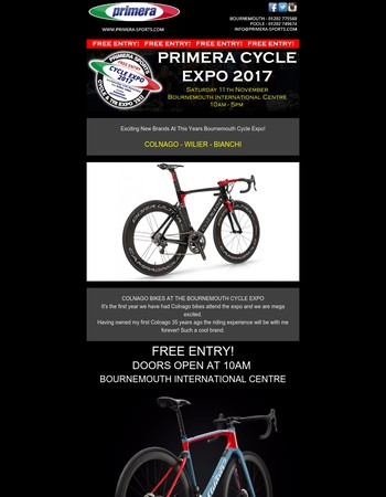 3 WEEKS UNTIL THE BOURNEMOUTH CYCLE EXPO - FREE ENTRY