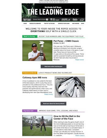 JUST IN: The Leading Edge Newsletter ⛳️
