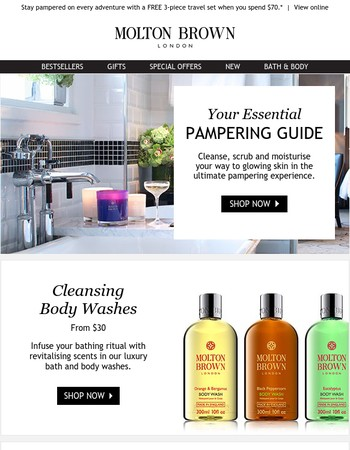 The Molton Brown Pamper Guide