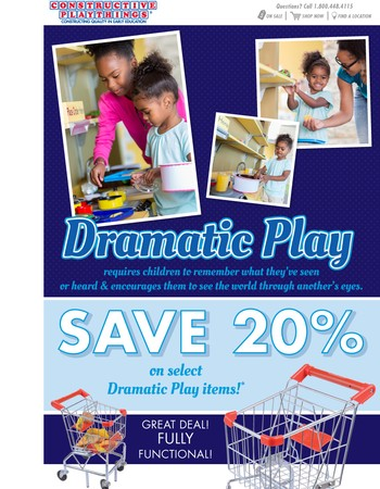 20% Off Dramatic Play Items