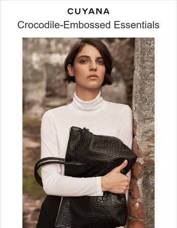 Introducing Crocodile-Embossed Bags