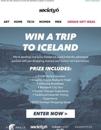 Win an Epic Iceland Adventure