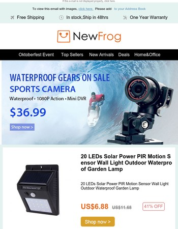 WATERPROOF GEARS ON SALE | 1080P Sports Action Camera at $36.99
