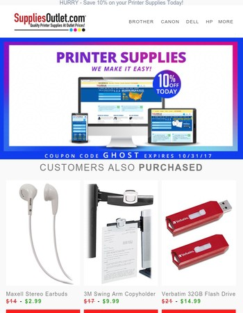✅ Save 10% on your Printer Supplies. Order and Save Today! ✅ [Oct 2017]