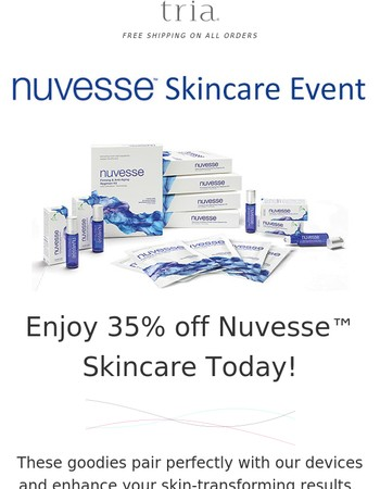 Only hours left: Get 35% off Nuvesse™ today!