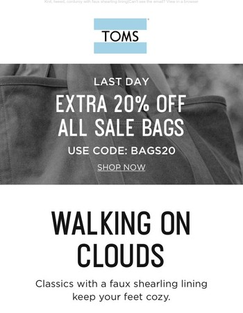 Classics for sweater weather | Extra 20% off sale bags