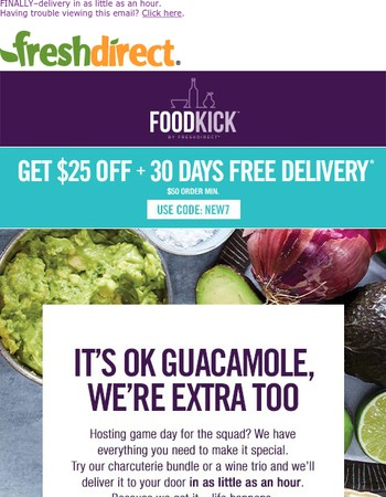 $25 off Your FoodKick Order