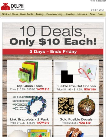 10 Deals Only $10 Each - Ends Friday